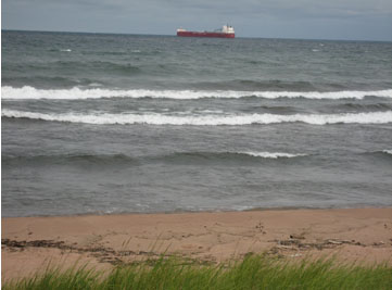 Photo of ship on Lake Superior, Duluth, Minnesota