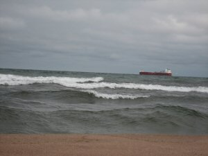 Ship on Lake Superior